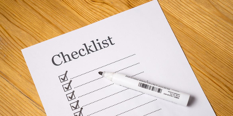 Motiv: Checkliste